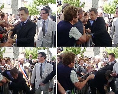 الاعتداء على الرئيس الفرنسي نيكولا ساركوزي